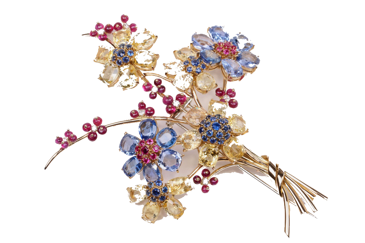 Broche bouquet hawai